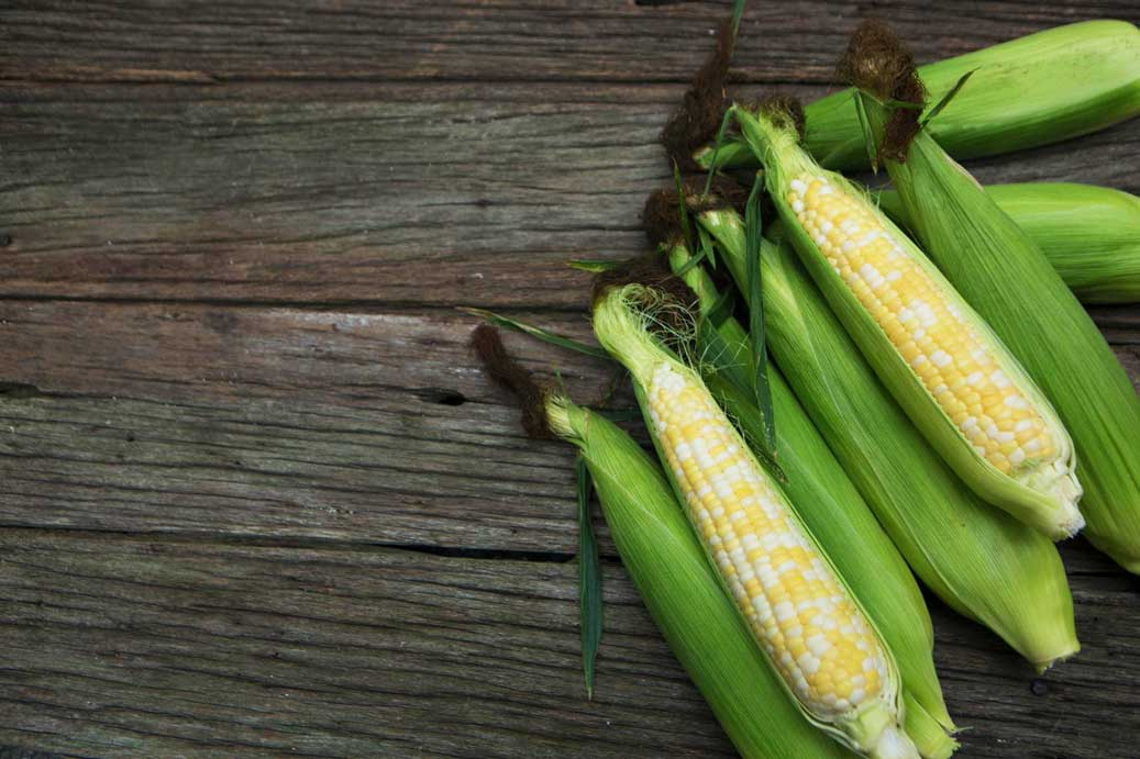 Storm's Sweet Corn on Table